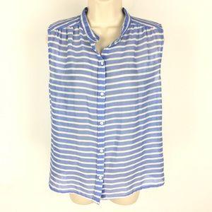 J. Crew Shirt Sleeveless Striped Button Down 4